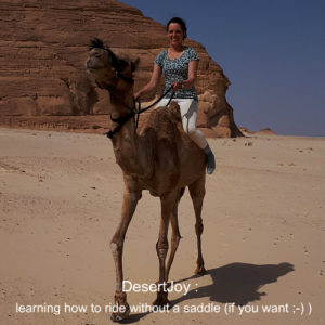 learning how to ride without a saddle desertjoy